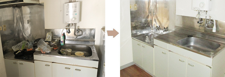 特殊清掃事例キッチン