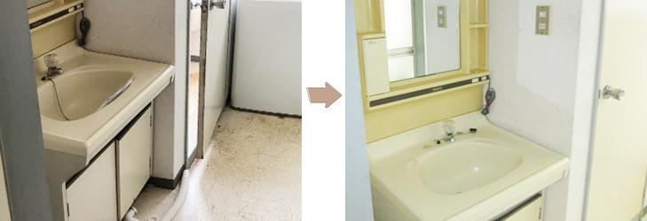 特殊清掃事例洗面所